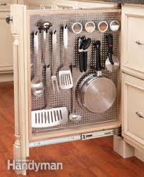 Narrow Kitchen Storage Cabinet Kitchen Storage Cabinet Rollouts The Family Handyman