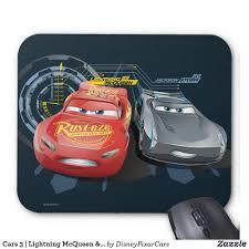 cars 3 lightning mcqueen u0026 jackson storm mouse pad lightning