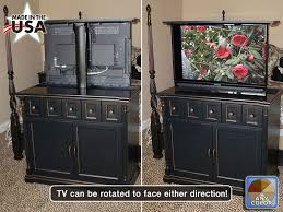 tv lift cabinet foot of bed custom made black foot of the bed tv lift cabinet with swivel