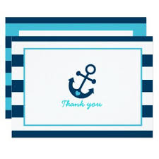 nautical thank you cards anchor nautical thank you card baby shower invitations baby