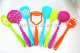 ustensile de cuisine en plastique usines en plastique en turquie silicone bleu cuisine ustensile