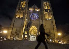 grace cathedral s neighbors beam as window lights up sfgate