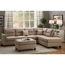 Microfiber Reversible Chaise Sectional Sofa Furniture Reversible Chaise Sectional Sectional With Movable