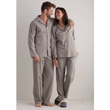 mens womens heathered flannel pajamas the company store