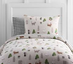 holiday cat flannel duvet cover pottery barn kids