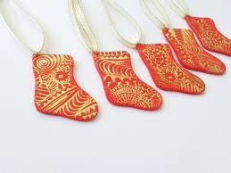 christmas stockings ornaments 5pcs set polymer clay christmas