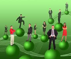 business on green balls royalty free stock images image