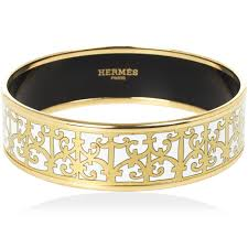 gold bracelet hermes images Hermes balcons du guadalquivir white enamel gold plated wide jpg