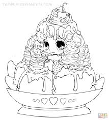 coloring pages beautiful coloring pages chibi ice cream