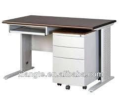 desk modular black wood and metal computer desk with keyboard