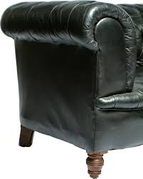 antique black tufted chesterfield sofa mecox gardens