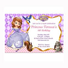 birthday invites stylish sofia the first birthday invitations