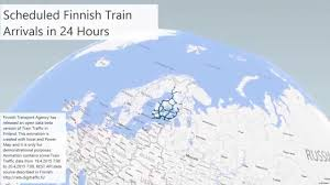 F Train Map Finnish Train Arrivals Power Map Animation Youtube