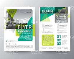 cover layout com green brochure cover flyer poster design layout template stock