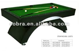 Professional Pool Table Size by Standard Size Mdf Billard Table Pool Table With Arc Legs For