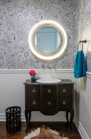 Unique Powder Room Vanities Elegant Vintage Looking Bathroom With Pink Wallpaper With Unique