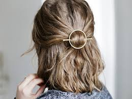 hair clasp diy brass circle hair clasp frankie magazine