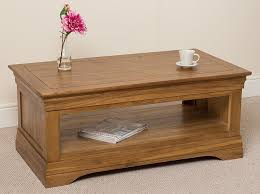 french rustic solid oak coffee table living room amazon co uk