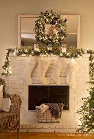 rustic glam tree and mantel fireplace
