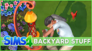 bubbly waterslides and bird feeders sims 4 backyard stuff