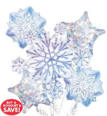 snowflake balloons snowflakes snowman theme party party city