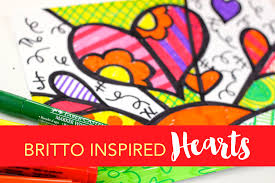 romero britto romero britto inspired hearts deep space sparkle