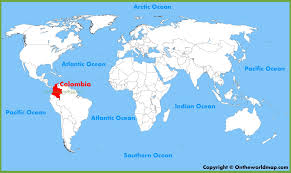 Map Of Columbia South America by