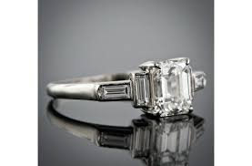 vintage emerald cut engagement rings vintage emerald cut diamond rings vintage style emerald cut