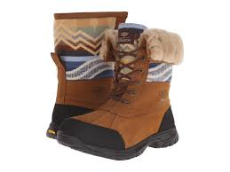 womens ugg pendleton boots lyst ugg butte pendleton in brown for