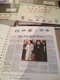 our wedding scrapbook martha stewart s wedding party new york i do pr