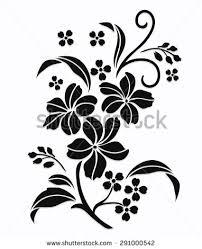 flower design sketch patternlace edge stock vector 263469029