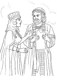 queen esther mordecai kings edict coloring pages queen