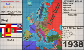 Map Of Europe 1938 by Alternative History Of Europe 2 Part 1 World War 2 Youtube