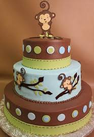 Baby Blue And Brown Baby Shower Decorations Monkey Baby Shower Cake Decoration Ideas Parties Pinterest