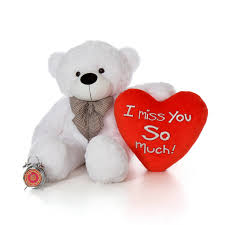 valentines day teddy bears 48in big s day teddy with beautiful i miss you so