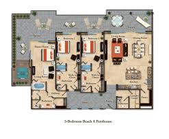Penthouse Floor Plans Suite Layouts Garza Blanca Residence Club
