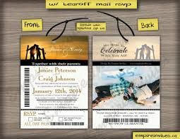 custom ski pass wedding invitations from winnipeg canada empire