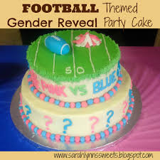 sarah lynn u0027s sweets pink vs blue football gender reveal party