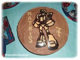 une plume dans la cuisine gâteau transformers avec azyme chocolat et mousse au chocolat sans
