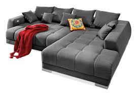sofa mit elektrischer relaxfunktion big sofa aus webstoff in grau mit funktion mali möbel