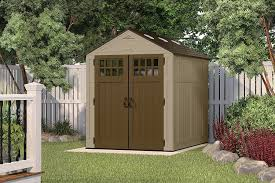 amazon com suncast bms6810d everett storage shed 6 x 8 u0027 patio