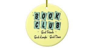 retro book club ornament friends zazzle