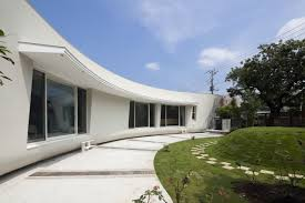 architecture irregular green screen house architecture with glass