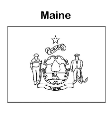 state flag of maine coloring page color luna