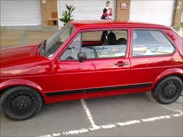 vintage volkswagen rabbit vw gti mk1 restored red fast bunny restored volkswagen golf gti