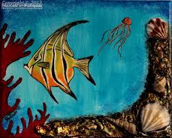 angel fish u201cocean life u201d series paintings by melinda