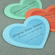 personalized seed packets personalized seed paper memorial heart plantable memorial shapes