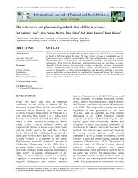 phytochemistry and pharmacological activities of clitoria ternatea