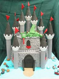 medieval castle and dragon birthday cake www vintagebakery com