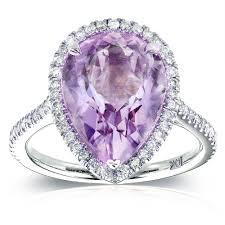 purple diamond engagement rings shape lavender amethyst and diamond engagement ring 4 5 8 carat